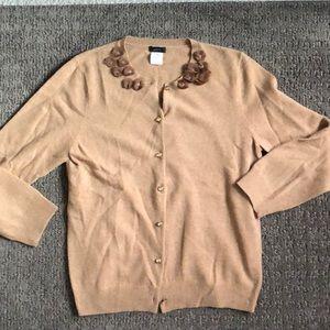 J Crew wool/ cashmere cardigan